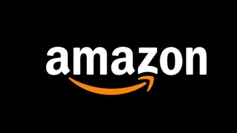 Amazon Logo on Black Background