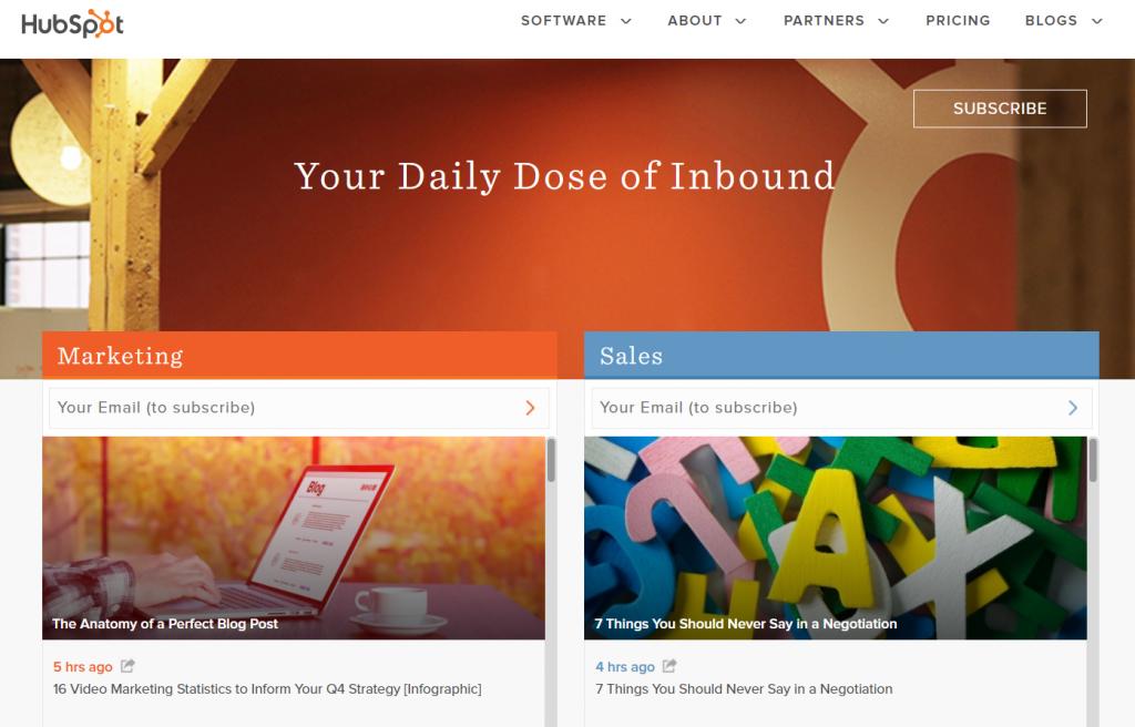 b2b examples of content marketing hubspot