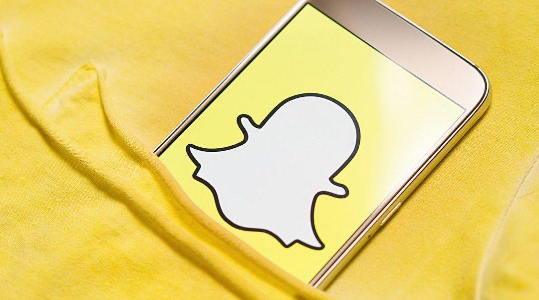 Snapchat Logo On Screen