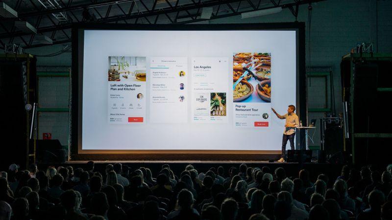 Digital Marketing Conference Image of Presentation on Large Screen